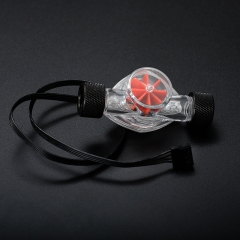Syscooling liquid cooling water flow meter Indicator with RGB light